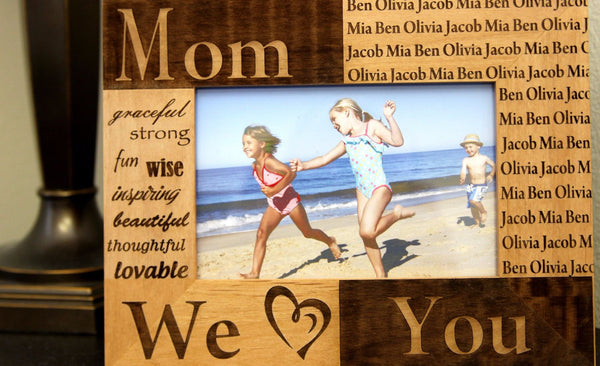 Personalized Mom/Grandma/Nana Photo Frames - Qualtry Personalized Gifts