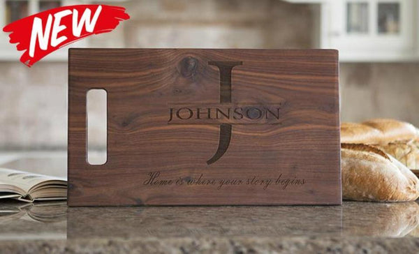 Citywide Home Loans Personalized 11x17 Walnut Cutting Board