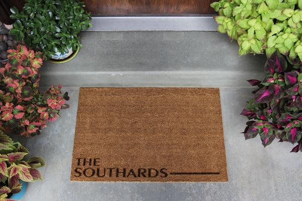 Inner Circle Personalized Door Mats - 2 Styles and 2 Shape Options!