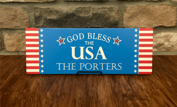 Personalized Patriotic Family Wall Signs