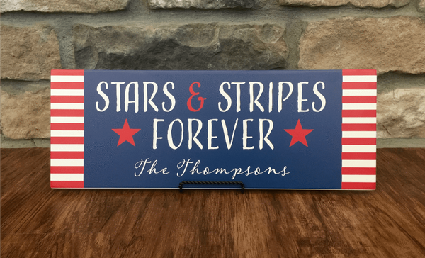 Personalized Patriotic Family Wall Signs - Qualtry Personalized Gifts