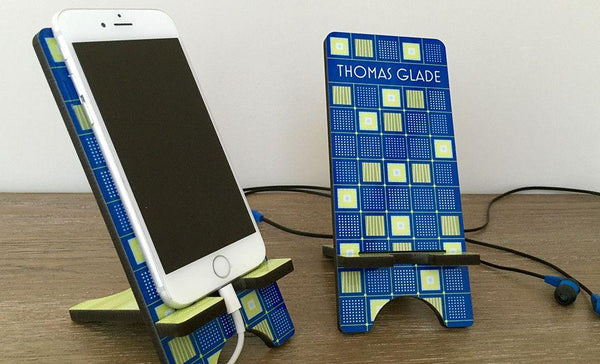Personalized Cell Phone Stands - Geometric Shapes