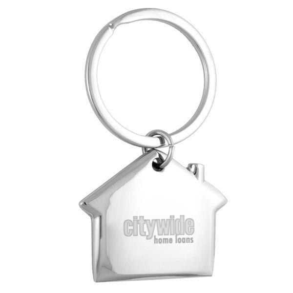 Custom Logo Laser Engraved Home Sweet Home Key Chains - 100 Pcs