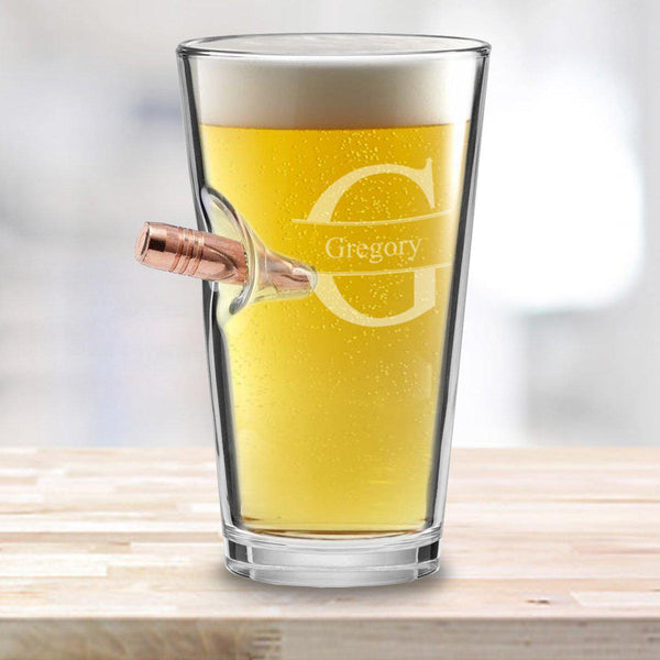 Personalized Bullet Pint Glass 16oz Qualtry