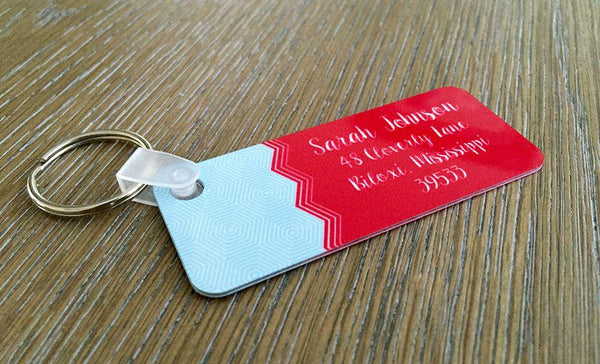 Personalized Key Chains - Rectangle Designs - Qualtry