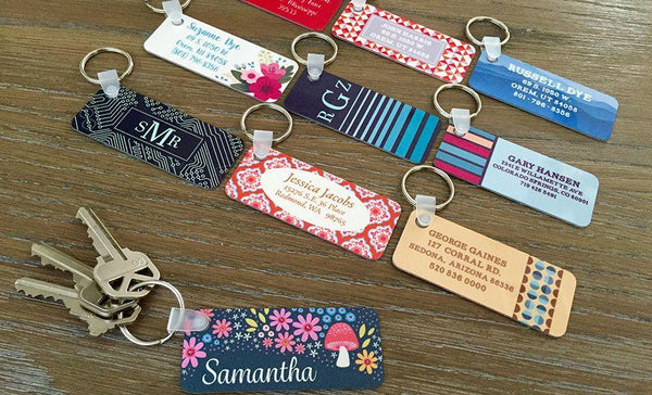 Personalized Key Chains - Rectangle Designs