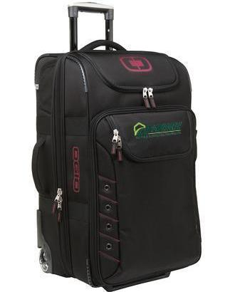 Corporate Rolling Bag - Embroidered OGIO Canberra 26 Travel Bag - 413006