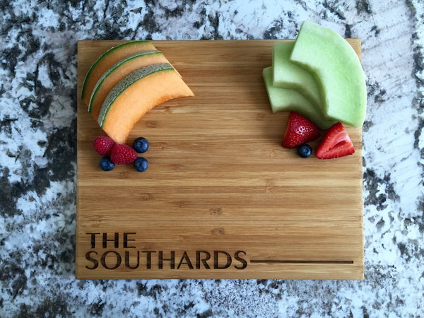 Qualtry Personalized Cutting Board 11x13 Bamboo - 11 Designs!