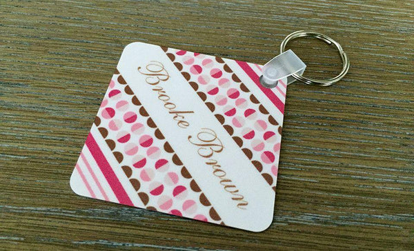 Personalized Key Chains - Square Designs - Qualtry