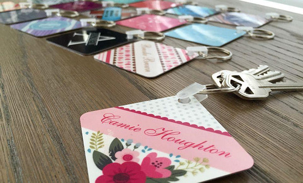 Personalized Key Chains - Square Designs - Qualtry Personalized Gifts