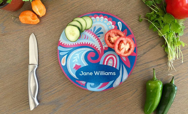 Personalized Tempered Glass Round Cutting Boards