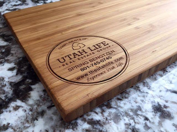 Utah Life Real Estate Personalized Beautiful Large Bamboo Boards
