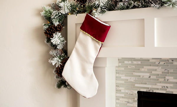 Velvet-trimmed Christmas Stockings (Non-Customized)