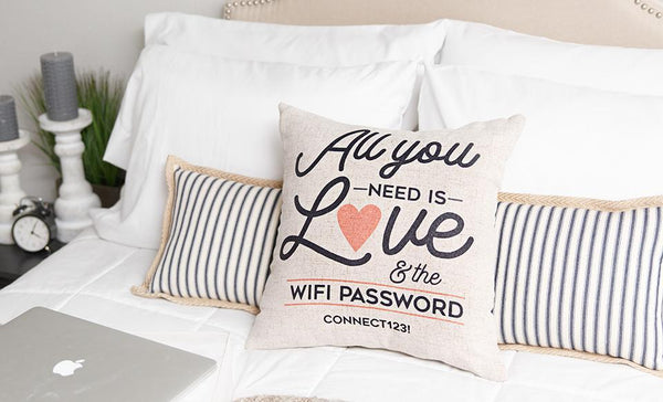 Customized WiFi Throw Pillow Covers