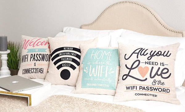 Personalized WiFi Throw Pillow Covers