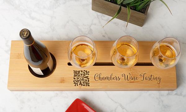 Personalized Wine Serving Tray Qualtry