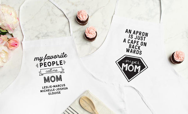 Personalized Best Mom Ever Aprons