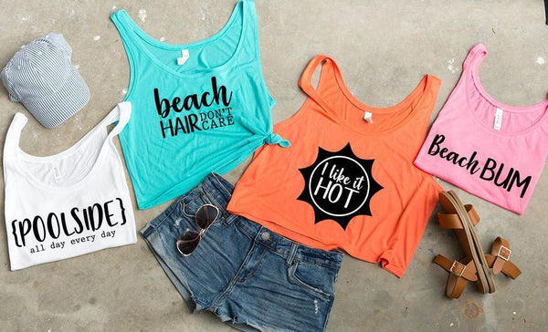 Test Beach Bum - Cropped Flowy Tank Collection