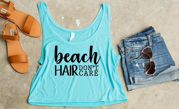 Beach Bum - Cropped Flowy Tank Collection