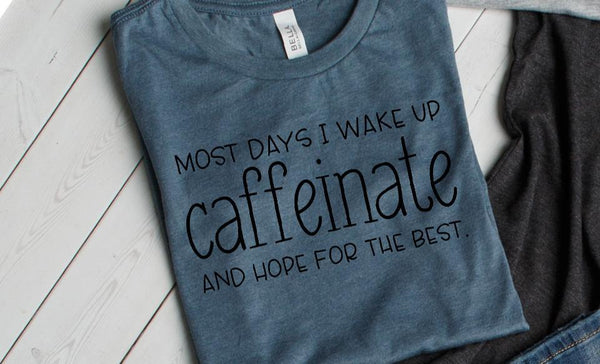 Test Caffeinate T-Shirt Collection