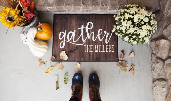 Personalized Fall Doormats
