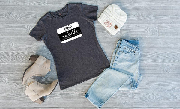 Customized Hello, Life! Crew T-Shirts