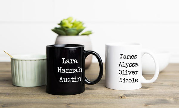 Personalized Family Name Mugs