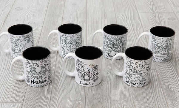 Coloring Mugs (Markers not included)