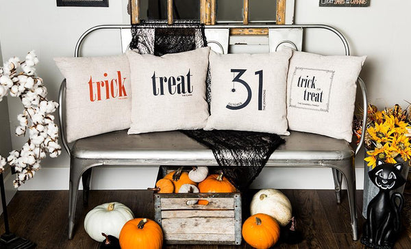 Corporate Holiday Collection - Personalized Halloween Throw Pillowcases