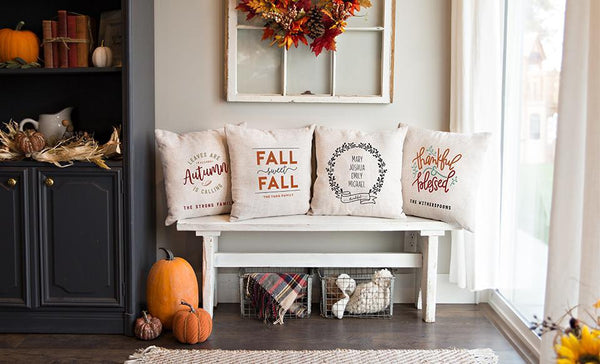 Customized Fall Throw Pillow Covers