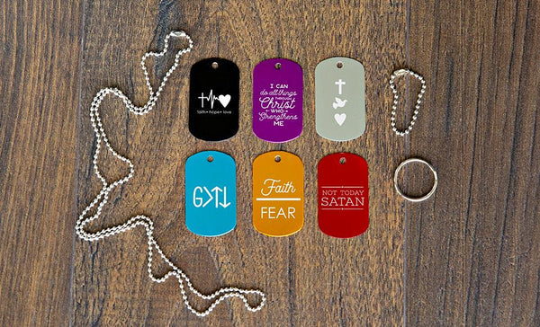 Personalized Dog Tags – Christian Collection