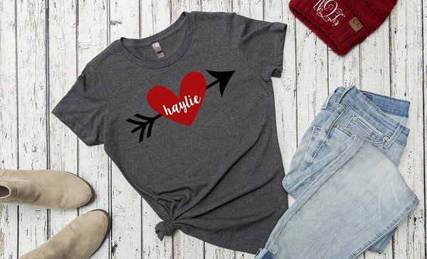 TEST Personalized Love Themed Ladies T-Shirts