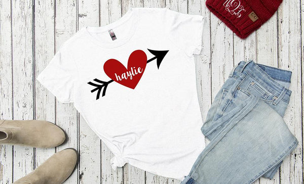 Customized Love Themed Ladies T-Shirts