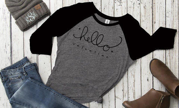 Personalized Love Themed Ladies Raglans