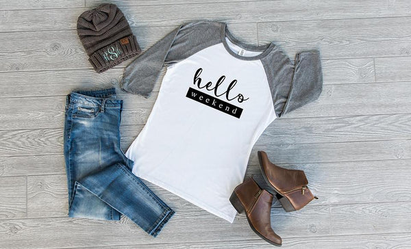 TEST Hello, Life! Ladies Raglans