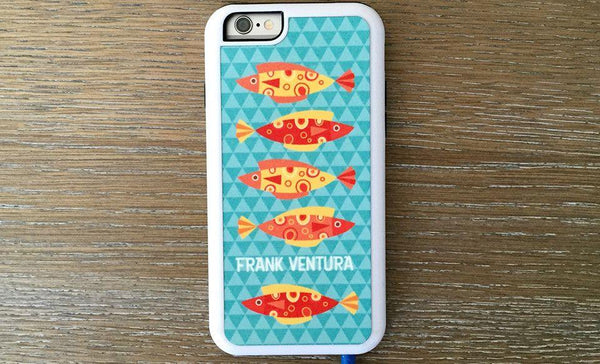 Personalized iPhone 6 Cases - Aqua Pattern