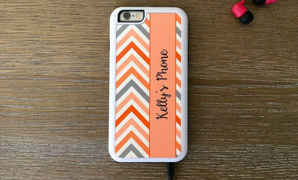Personalized iPhone 6 Cases -Chevron Pattern - Qualtry Personalized Gifts