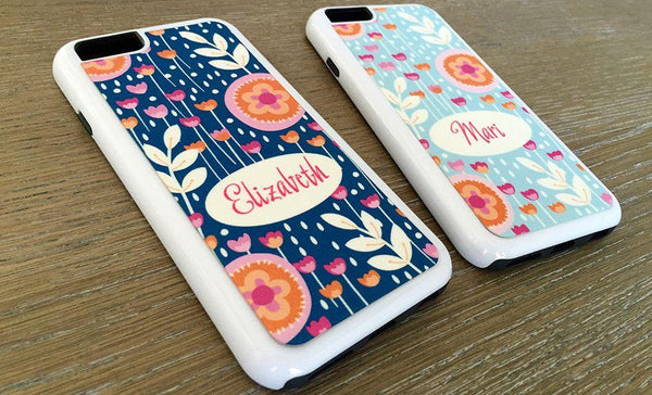 Personalized iPhone 6 Cases - Flower Pattern - Qualtry