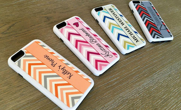 Personalized iPhone 6,7,8 Cases -Chevron Pattern