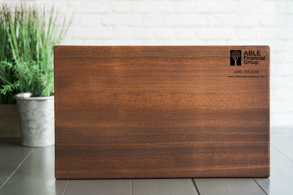 Corporate Gift Item - 10x15 Mahogany Cutting Board