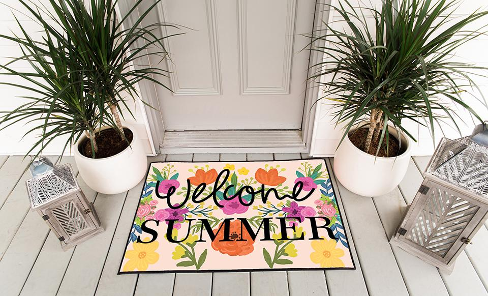 Personalized Floral Doormats Qualtry