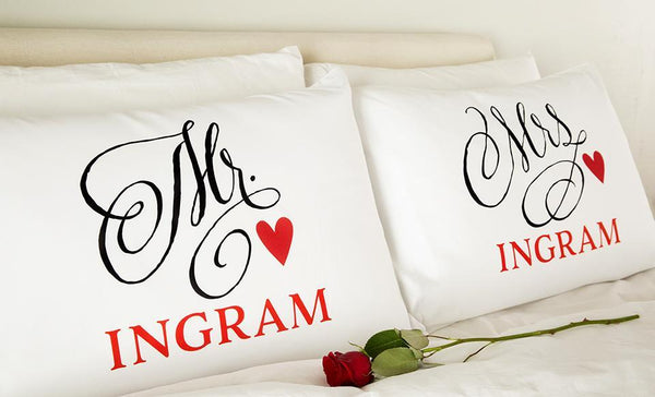 Customized Romantic Pillowcases - 2 Pillowcases Set