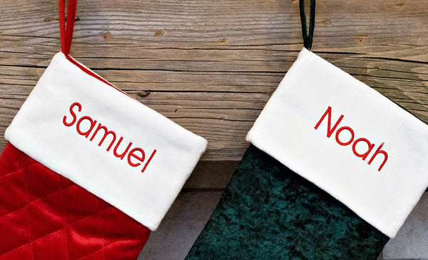 Customized Velvet Christmas Stockings