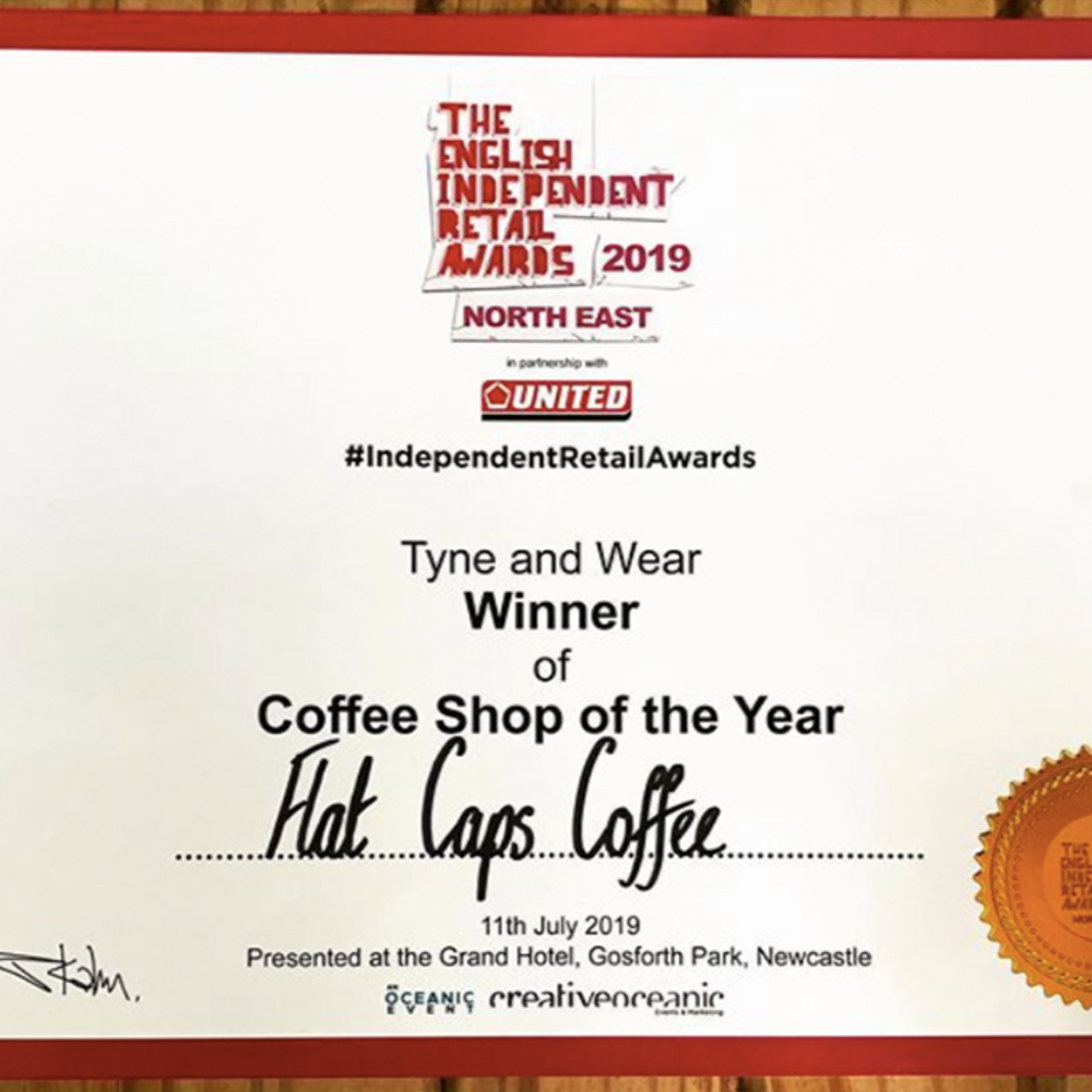 Voted Best Coffee Shop In The North East