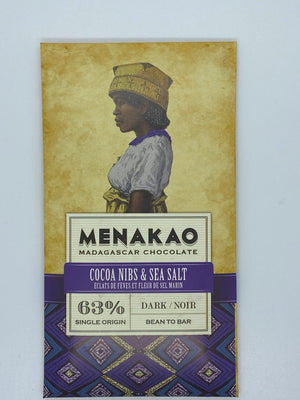 Menakao, Cocoa Nibs and Sea Salt, 63%