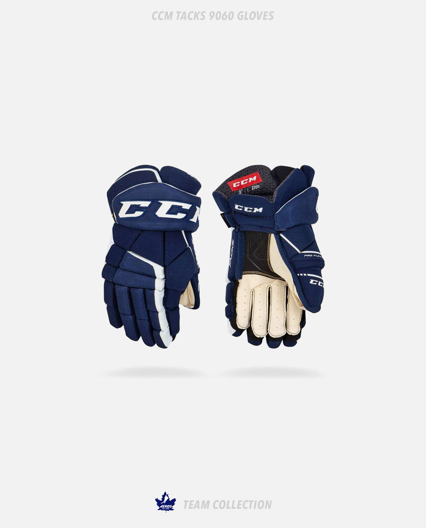 Toronto Aeros CCM Tacks 9060 Gloves - Toronto Aeros Team Collection