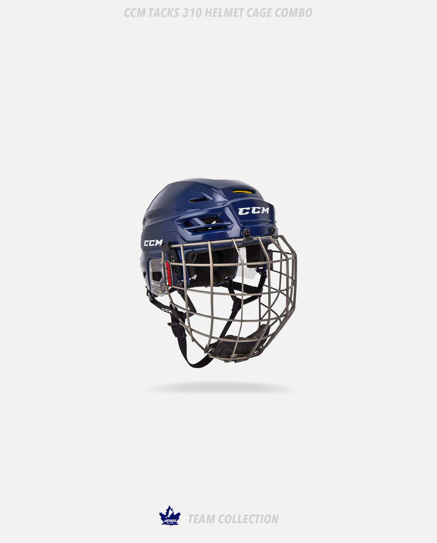 Toronto Aeros CCM Tacks 310 Helmet Cage Combo - Toronto Aeros Team Collection