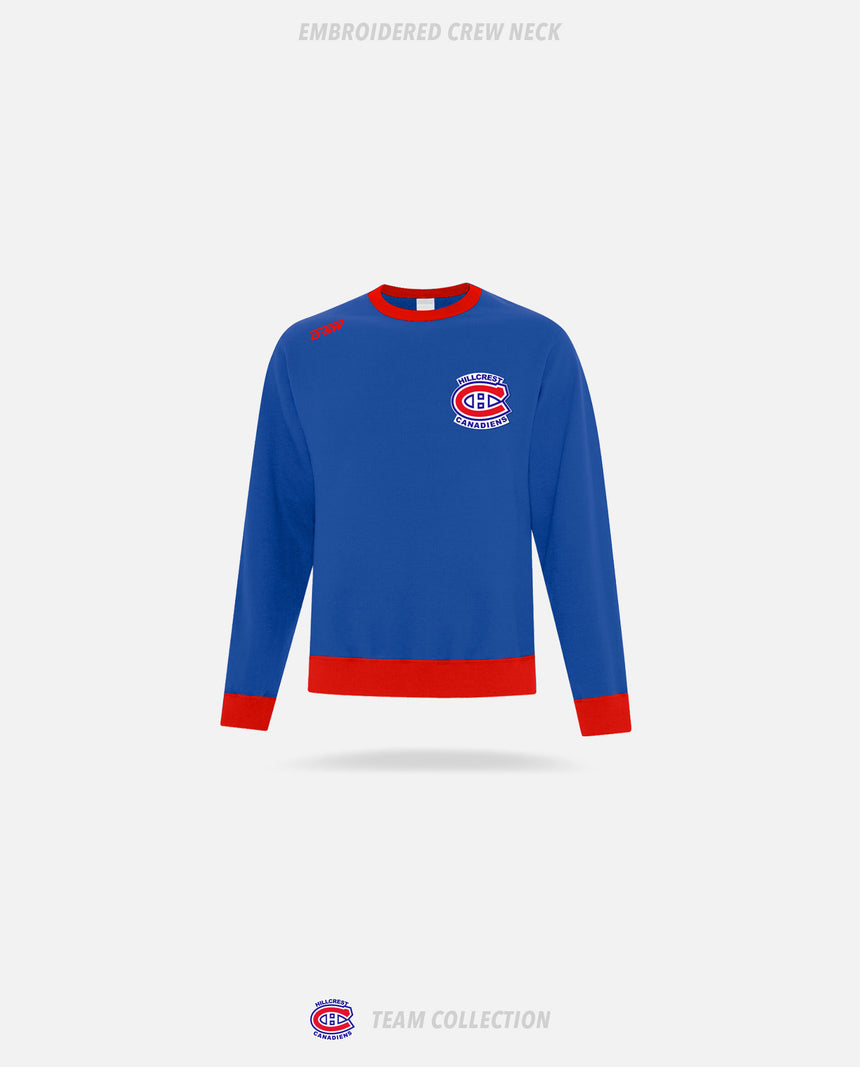 Hillcrest Canadiens Embroidered Crew Neck - Hillcrest Canadiens Team Collection