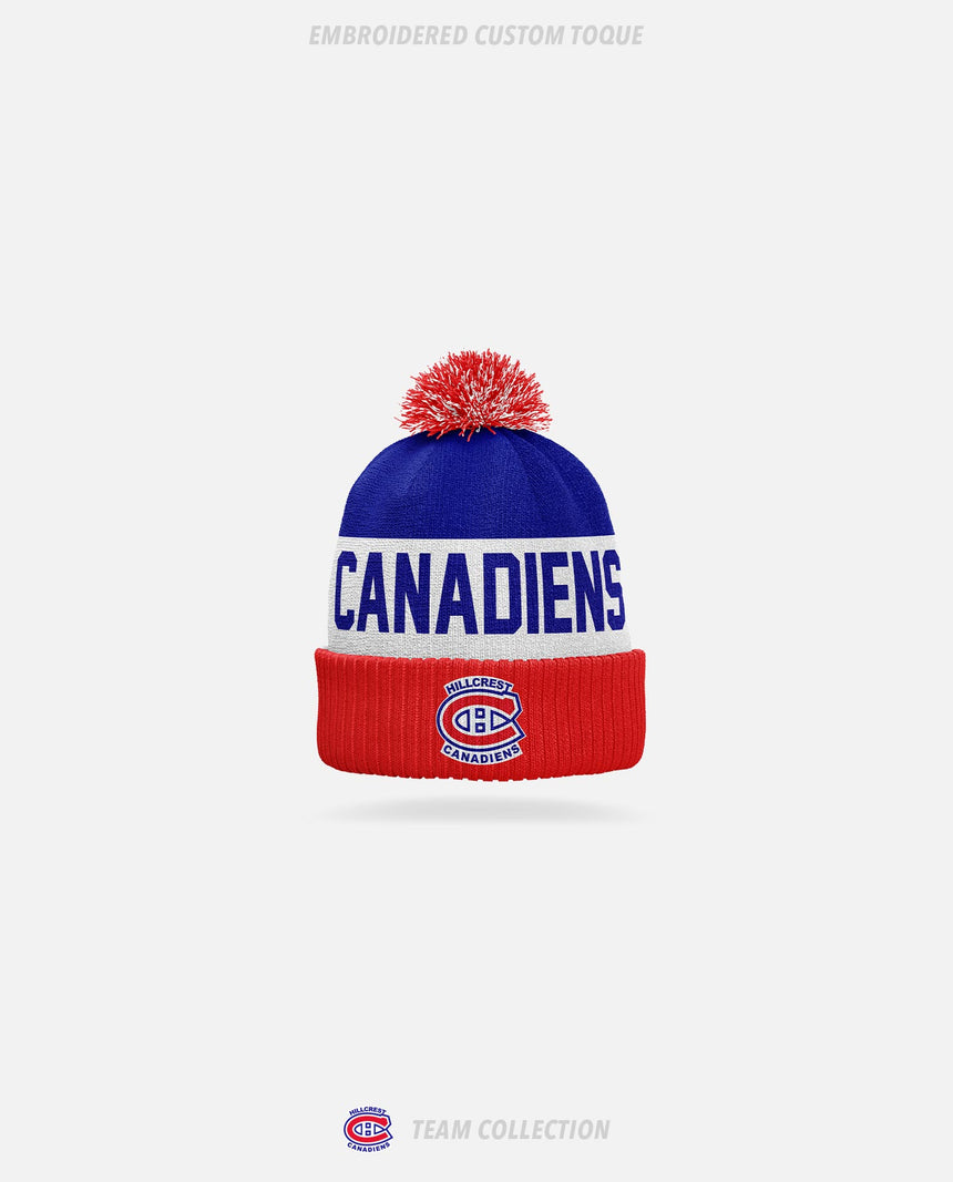 Hillcrest Canadiens Embroidered Custom Toque - Hillcrest Canadiens Team Collection