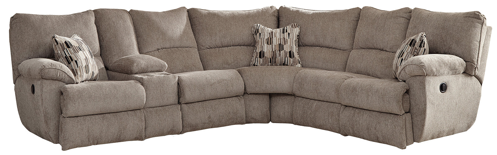Catnapper Elliott 2pc Power Lay Flat Reclining Sectional in Pewter